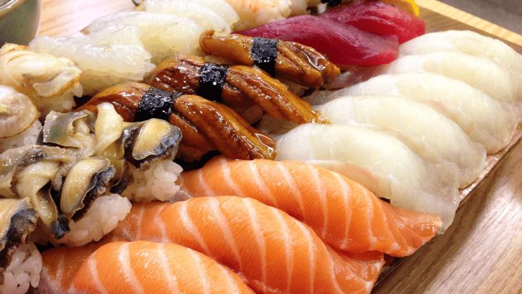 握り寿司の盛り合わせ