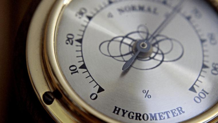 アナログ型の湿度計