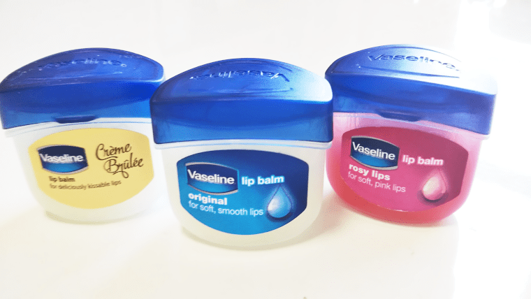 ヴァセリンリップ3種類