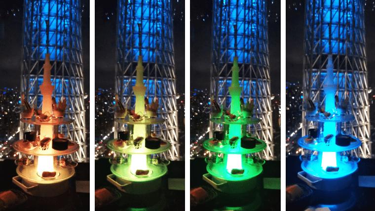 アミューズタワーの色変化