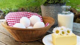 卵とミルク、バター